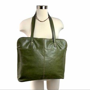 Bueno Vegan Laptop Tote Bag Purse Green